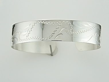 Silver Child's Cuff Bracelet