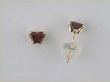 10ky January Butterfly Earrings