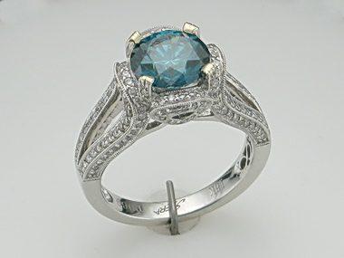 2.28ct Blue Diamond Ring