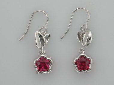 Fuchsia Bflower Earrings
