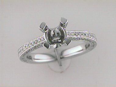 14kt Engagement Ring Mount