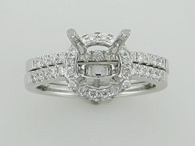 18kw Diamond Engagement Mount