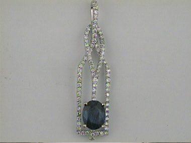 1.16 Ct Sapphire & Dia. Pendant