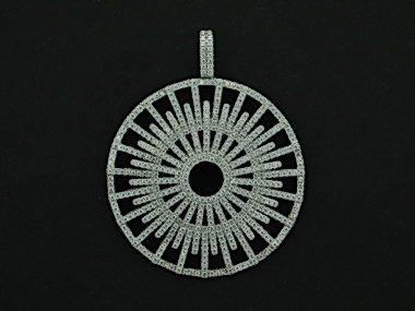 Silver Cubic Pendant