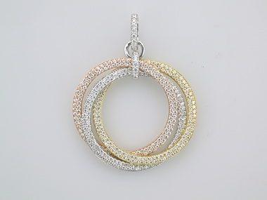 Silver 3 Rings Pendant