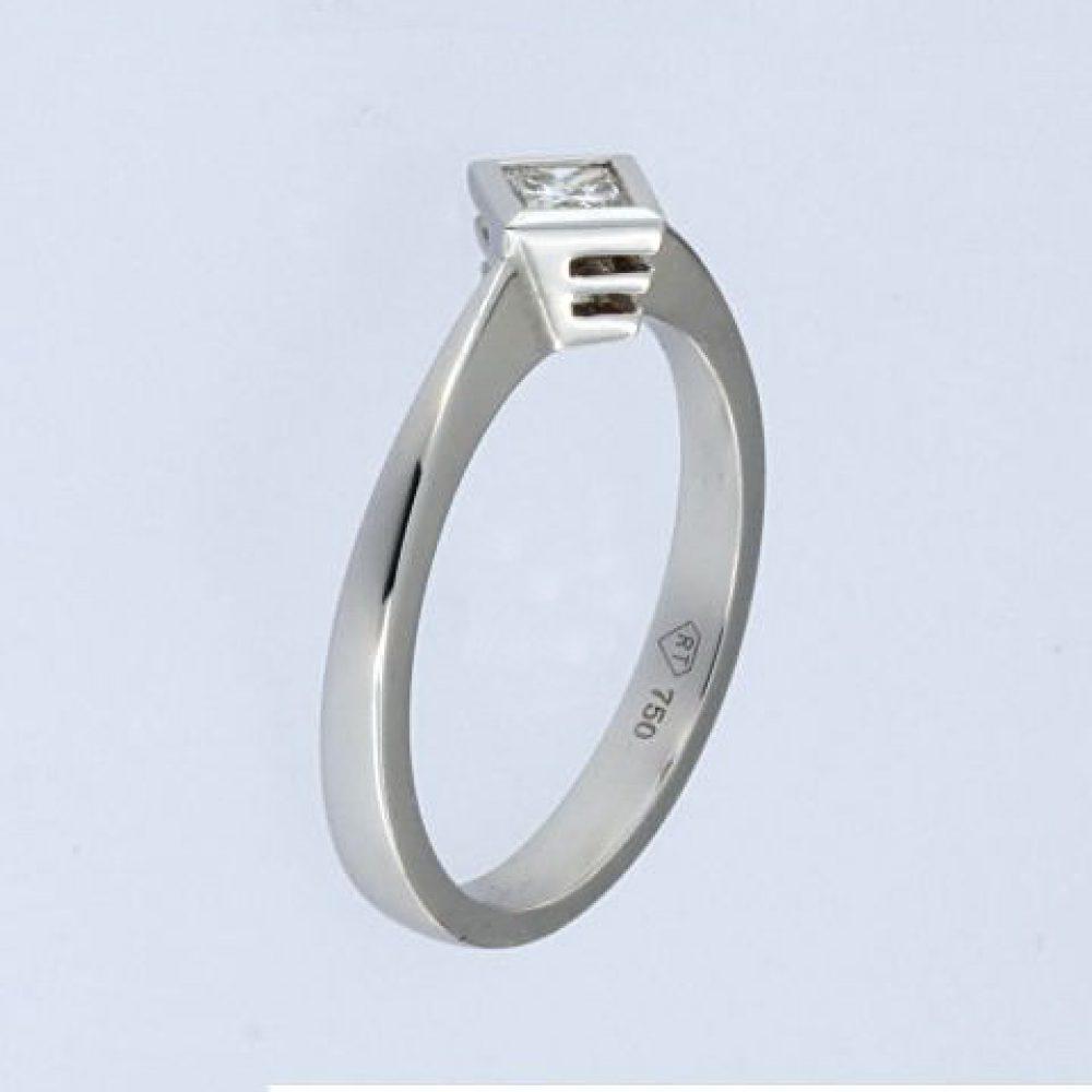 0.18 Ct Princess Cut Diamond Ring