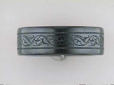 Black Titanium Engraved Band