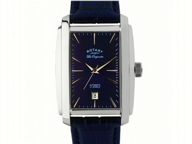 Rotary Blue Rectangular Watch
