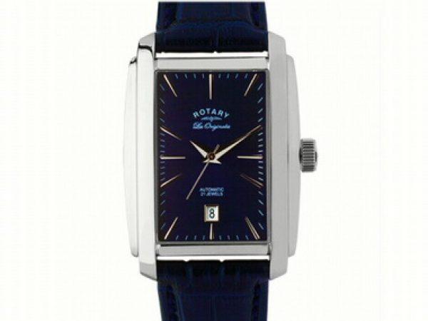 Rotary Blue Rectangular Watch