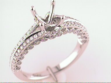 18kt Diamond Ring Mount