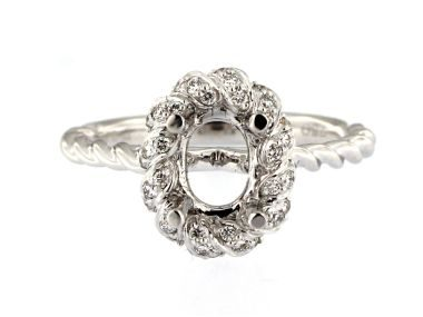 Oval Mount Ring