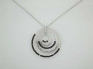 Black & White Saturn Necklace