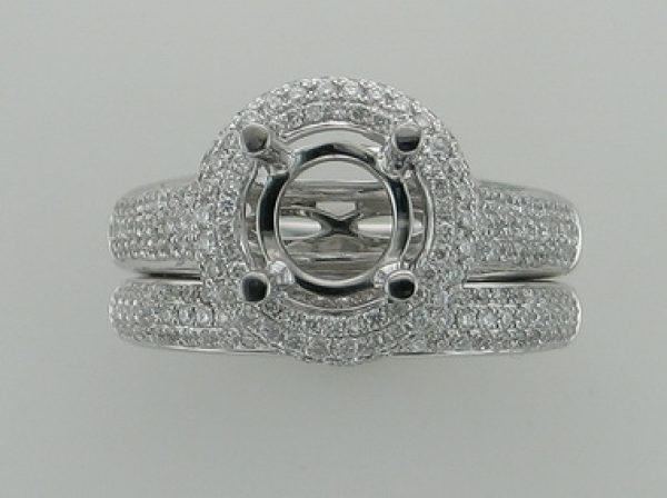 18kt Engagement Mount W Band