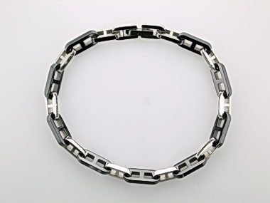 Black Ceramic & Steel Bracelet