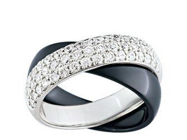 Black & Silver Crossover Ring