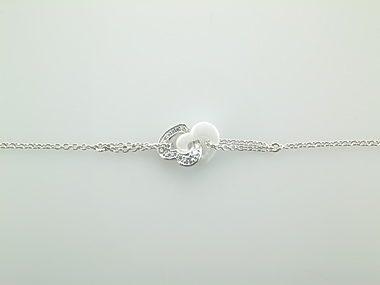 White Ceramic & Silver Bracelet