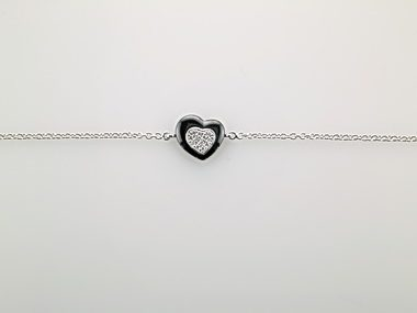 Black Ceramic Heart Bracelet