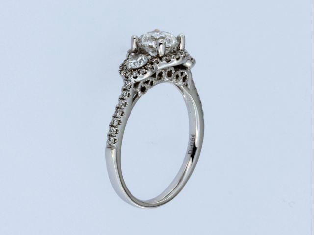 1.44 cts Halo Trinity Ring