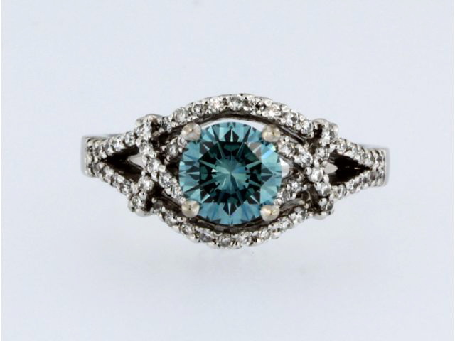 1.10ct Blue Diamond Ring