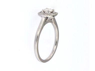 0.55 ctw Halo Style Ring