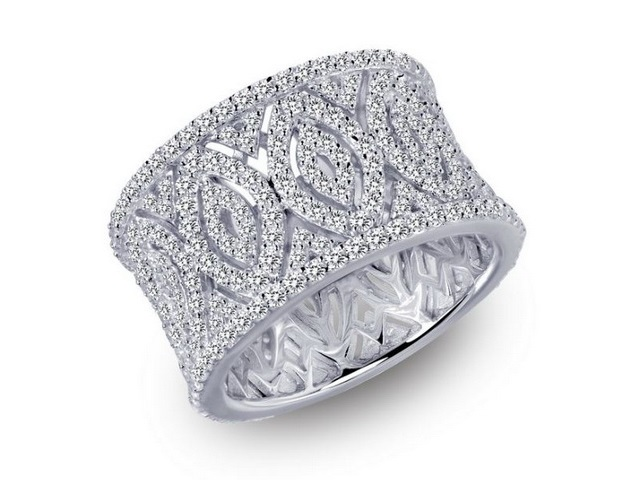 Silver & Cubic Pavee Band