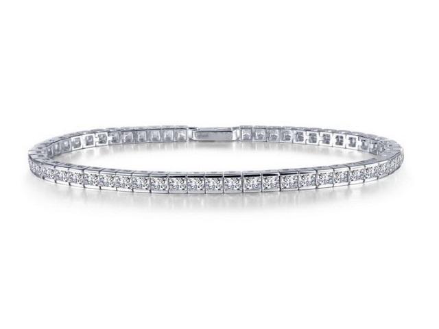 Princess Cut Cubic Tennis Bracelet