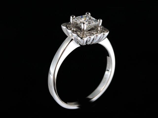 Princess Cut Halo Ring