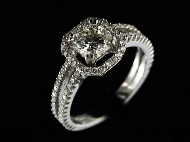 14kw 1.09Ct Octillion Diamond Ring