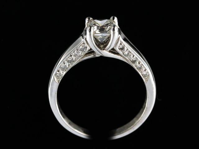 0.93ct Radiant Cut Diamond Ring