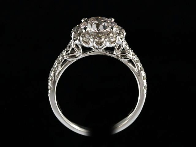 1.59ct Halo Engagement Ring