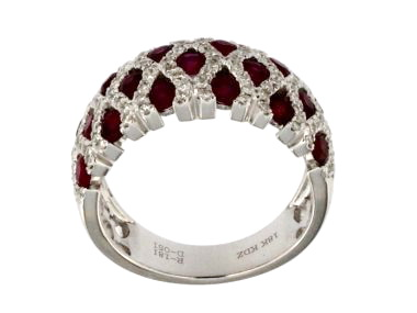 18KT Ruby and Diamond Ring