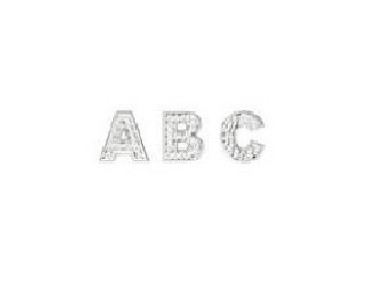 18K White Gold Letters with Diamonds