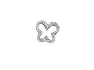 18K White Gold Butterfly with Diamonds