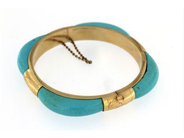 14KT Turquoise Bangle