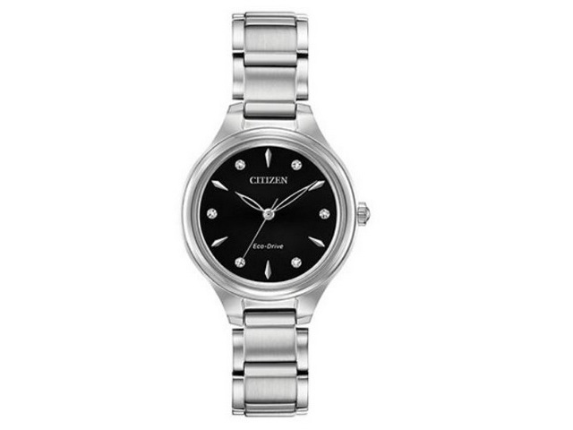 Ladies Black Dial Eco-Drive