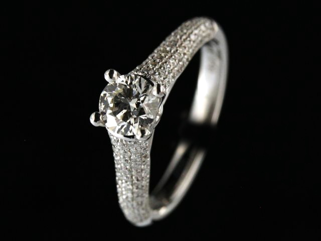 1.14 Ctw 18kt Engagement Ring