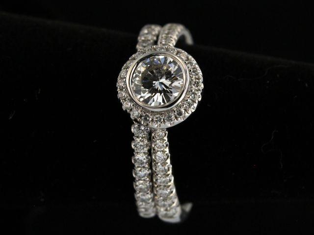 18kt Diamond Engagement Set