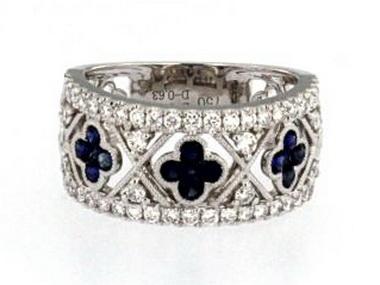 Sapphire Quatrefoil Ring