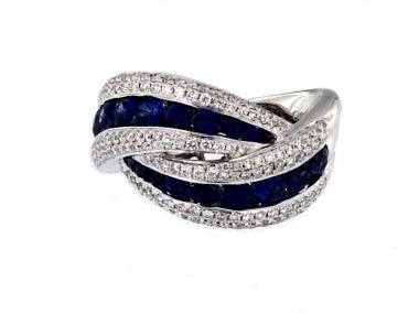 18KT Sapphire & Diamond Ring