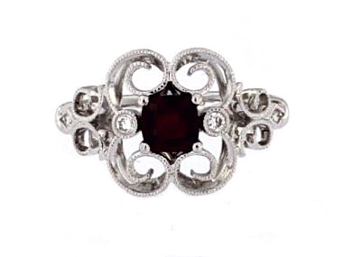 Antique Style Ruby Ring