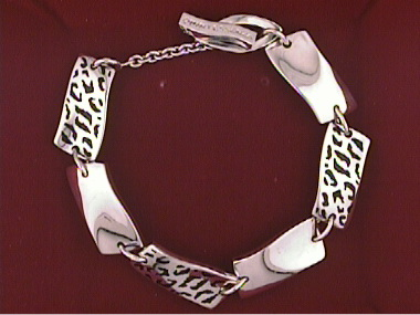 Bracelet With Black Enamel