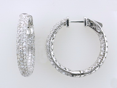 Pavee Diamond Hoops
