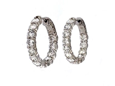 4.70 ctw Diamond Hoops