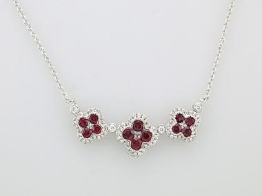 Ruby Quatrefoil Necklace