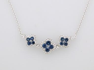 Sapphire Quatrefoil Necklace