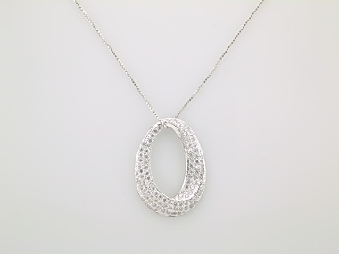 Silver Cubic Pendant and Chain