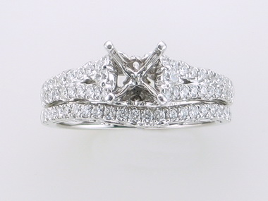 18KT Diamond Mount Set