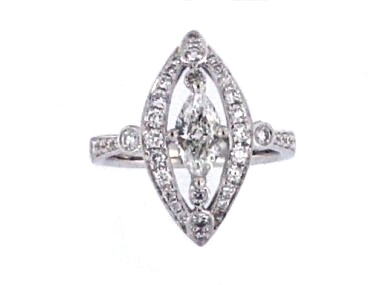 18KT Marquise Diamond Ring