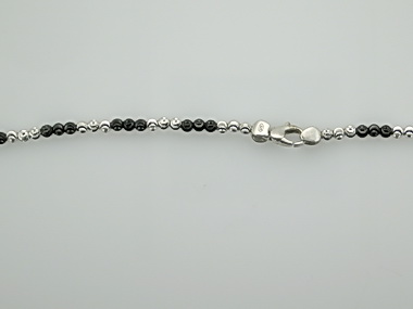 "40"" Black & White Moon Necklace"