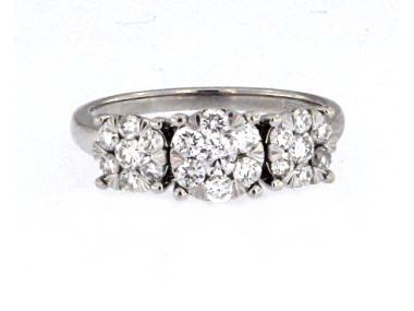 14KT Multi Diamond Ring